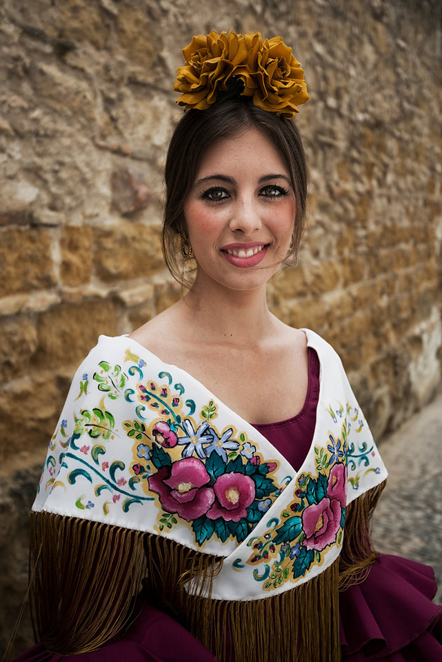 Young spanish flamenco dancer.