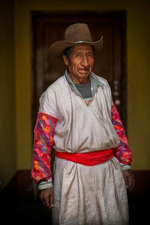 Mayan man from the town of  San Martín Sacatepéquez, Guatemala