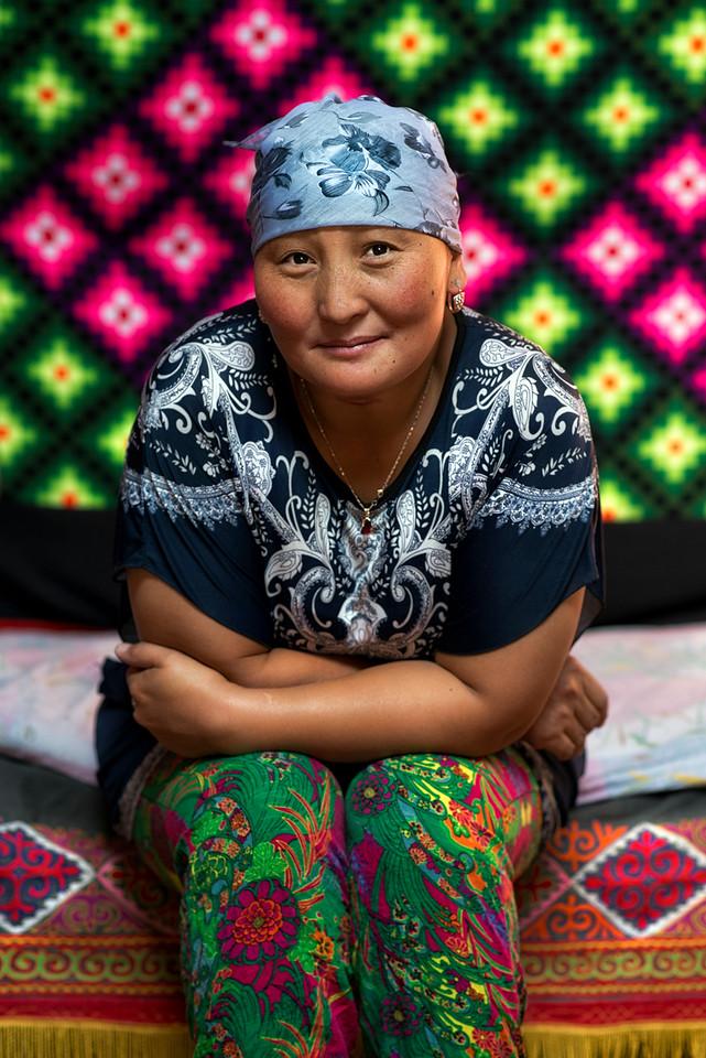 Kazakh woman.