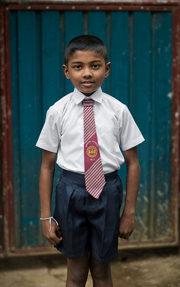Sri Lankan uniformed school boy.
