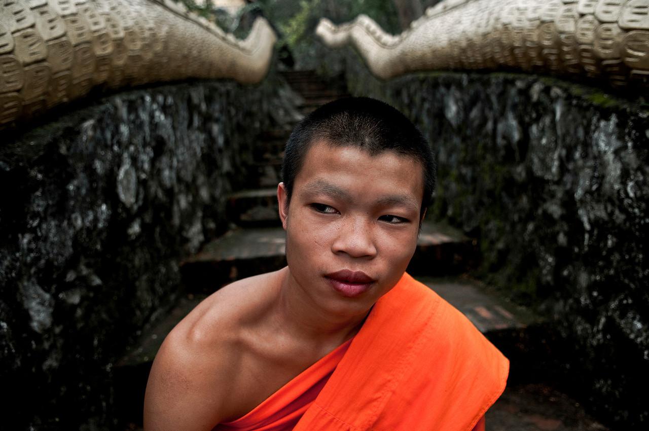 Lao, buddhist monk.