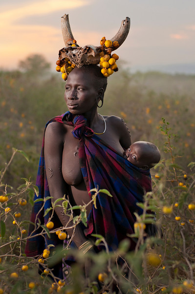Mother and child from the Mursi tribe.