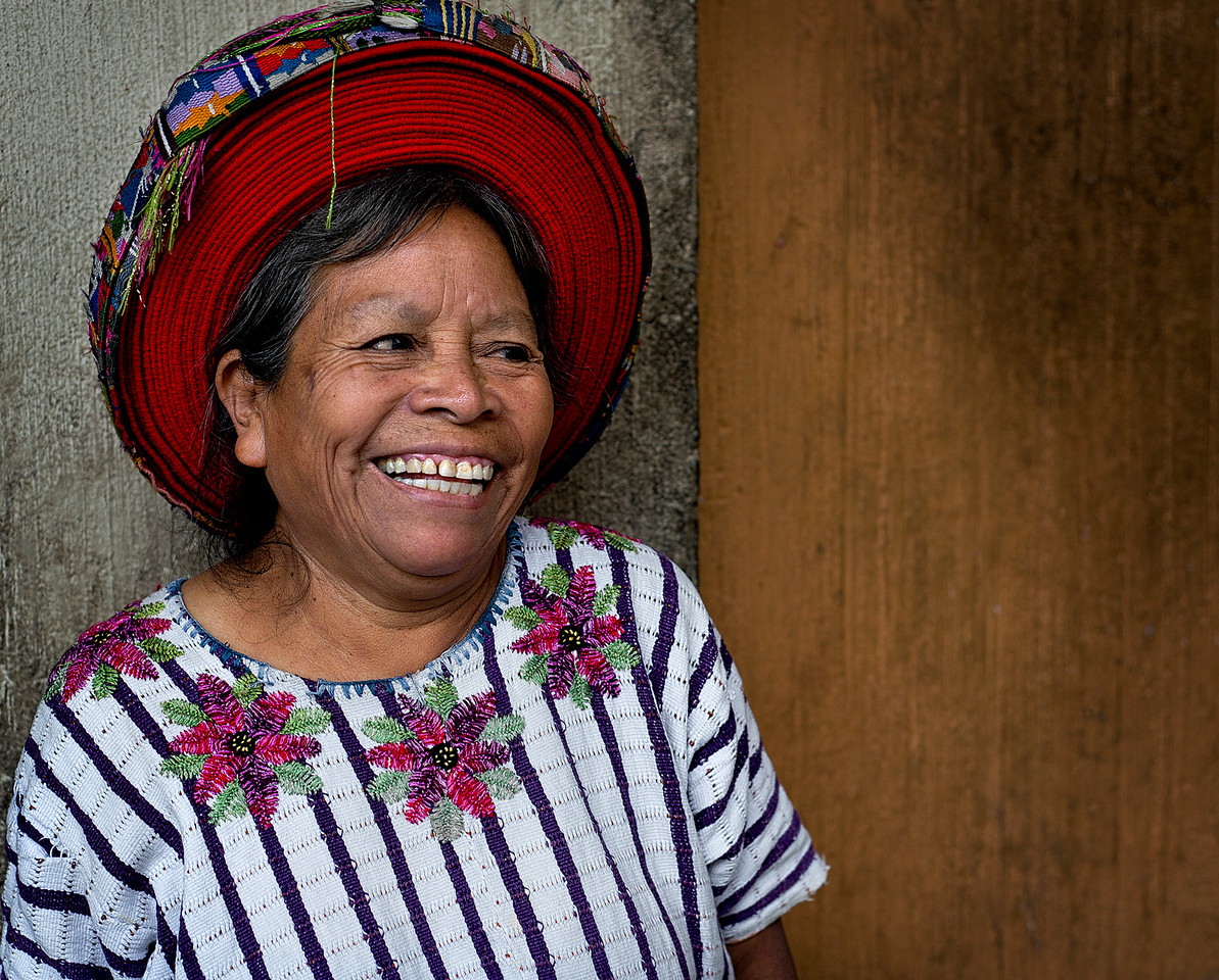 Mayan lady in the town of  Santiago de Atitlan, Guatemala.