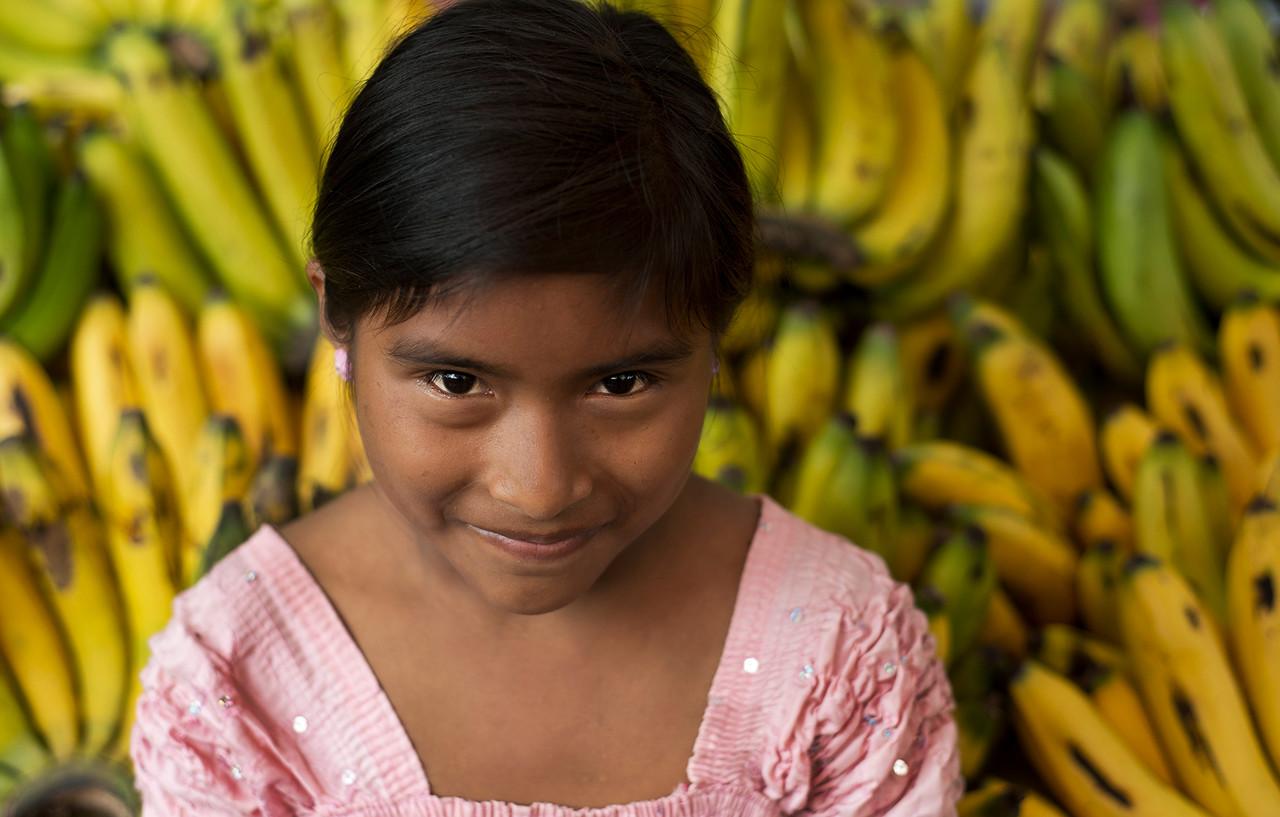Guatemalan fruit vendor.