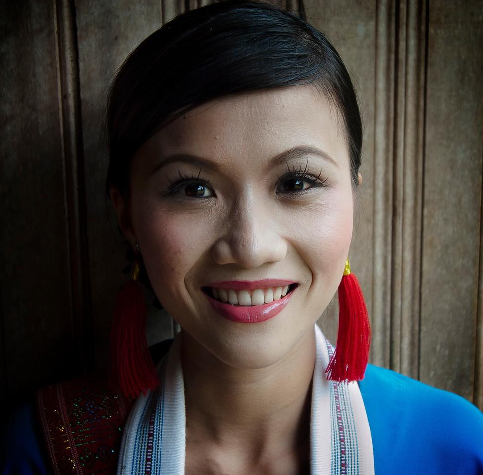 Vietnamese traditional dancer.