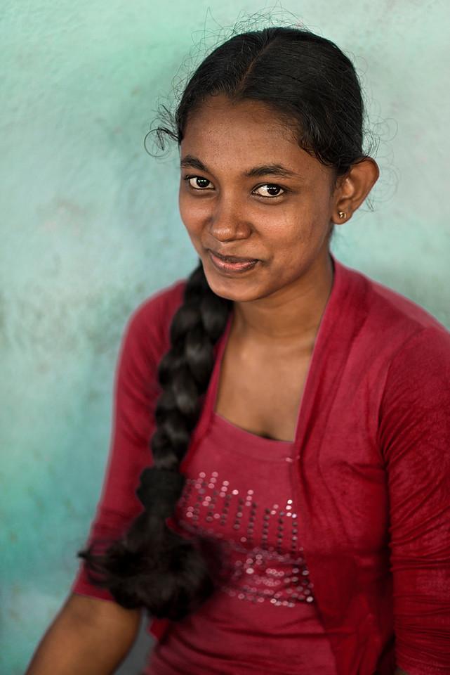 Young Sri Lankan woman.
