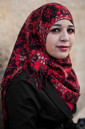 Palestinian, muslim university student.