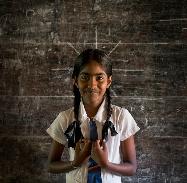 Sri Lankan, school girl.