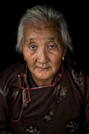 Mongolian older lady