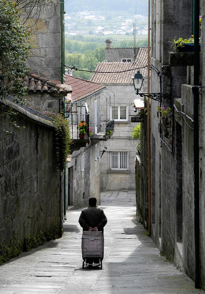 Street scene in Porto, Portugal.