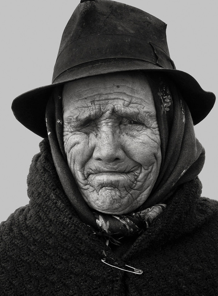 Portrait of a woman in a small village near the town of Evora, Portugal.
