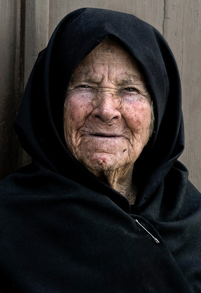 Portrait of a woman in a small village near Evora, Portugal.