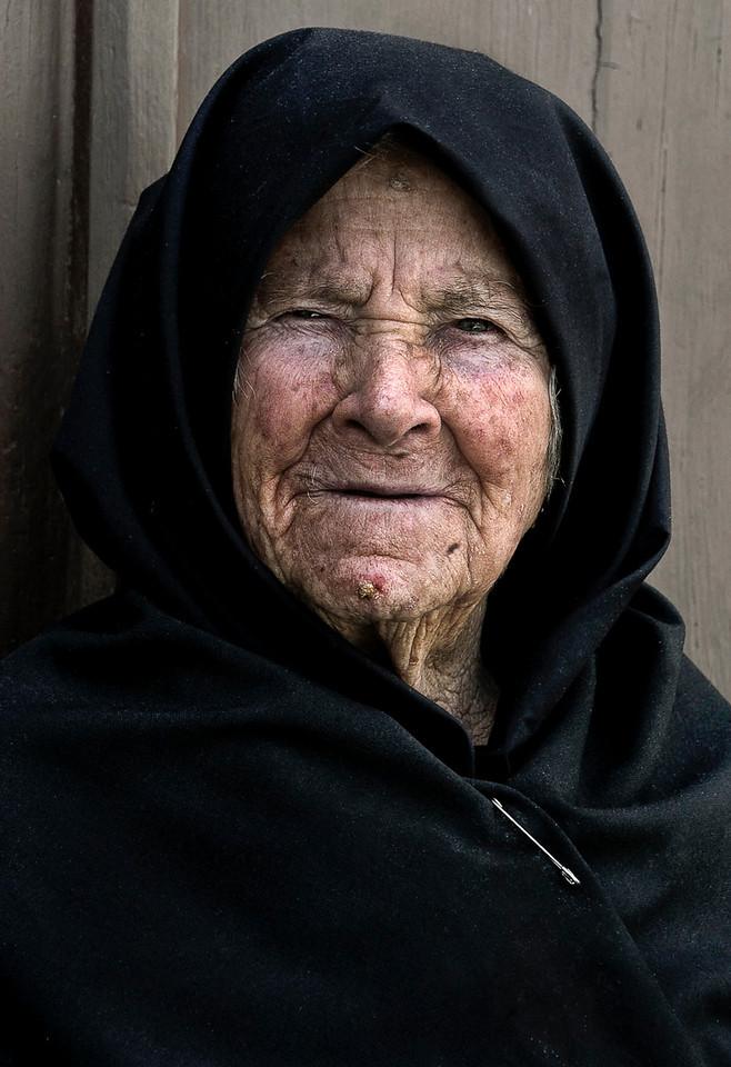 Portrait of a woman in a small village near Evora, Portugal.