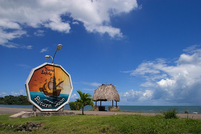 Welcome sign that greets visitors entering into Punta Gorda Town, Toledo.