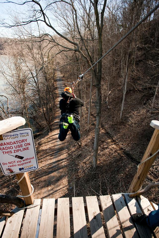 Third shot in the series. 3/3 River Riders, Harper's Ferry, West Virginia, digital, 17-40mm lens, Mar 2014.