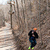 Jose about to land after zipping. River Riders, Harper's Ferry, West Virginia, digital, 17-40mm lens, Mar 2014.