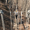 A plank bridge between zip platforms. River Riders, Harper's Ferry, West Virginia, digital, 17-40mm lens, Mar 2014.