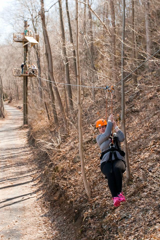Zip line! River Riders, Harper's Ferry, West Virginia, digital, 17-40mm lens, Mar 2014.