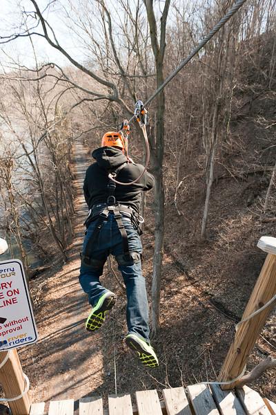 Jump Jose! 1/3 River Riders, Harper's Ferry, West Virginia, digital, 17-40mm lens, Mar 2014.