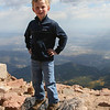 Kyle, looking regal, atop Pikes Peak, Colorado. 2011