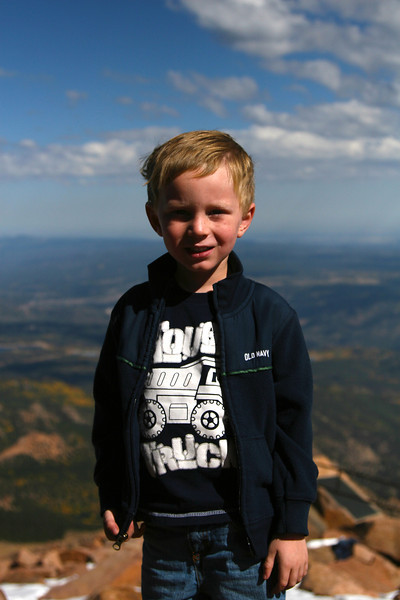 Kyle at the top of Pikes Peak.