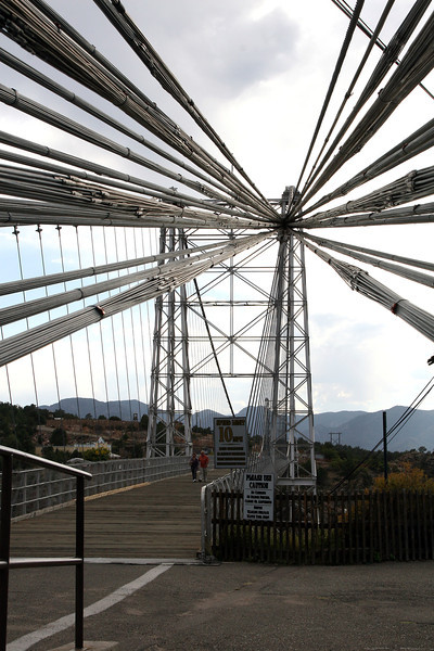 Artsy photo looking at the cables holding up Royal Gorge bridge. 2011