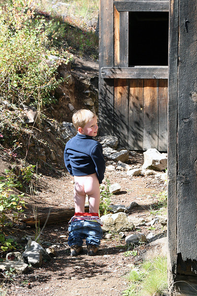 Kyle...peeing at the ghost town.
