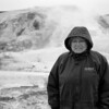 Mom in front of a geothermal spring in Yellowstone, April 2013, taken with Kodak TMax film.