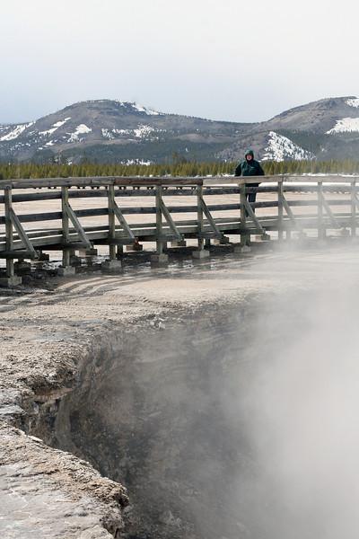 Mom at Yellowstone National Park, April 2013.