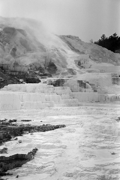 Geothermal spring in Yellowstone, April 2013, taken with Kodak TMax film.