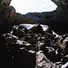 A collapsed lava tube at  at Craters of the Moon, Idaho, April 2013, taken with Kodak Portra 160 film.