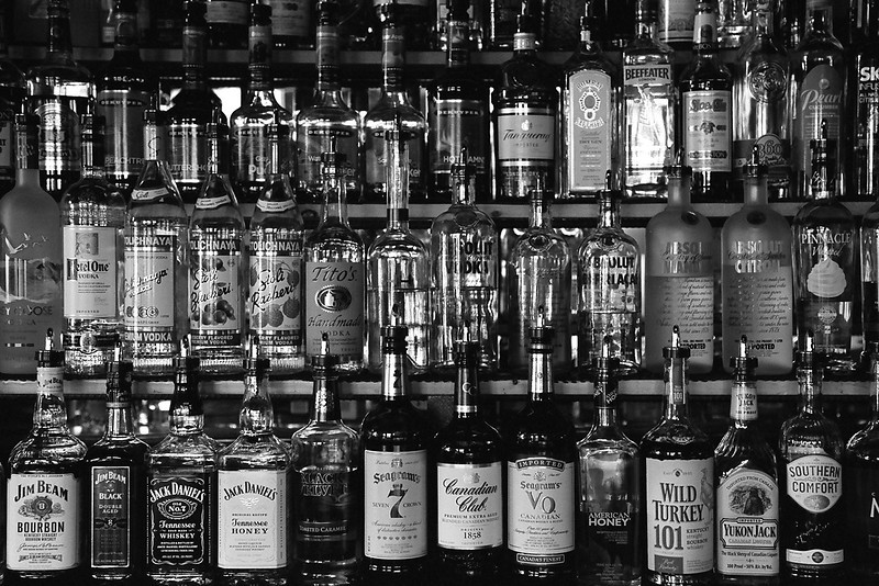 Bar in Red Lodge, Montana, April 2013, taken with Kodak TMax film.