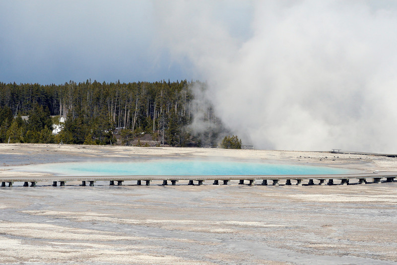 One of the emerald pools at Yellowstone National Park, April 2013.