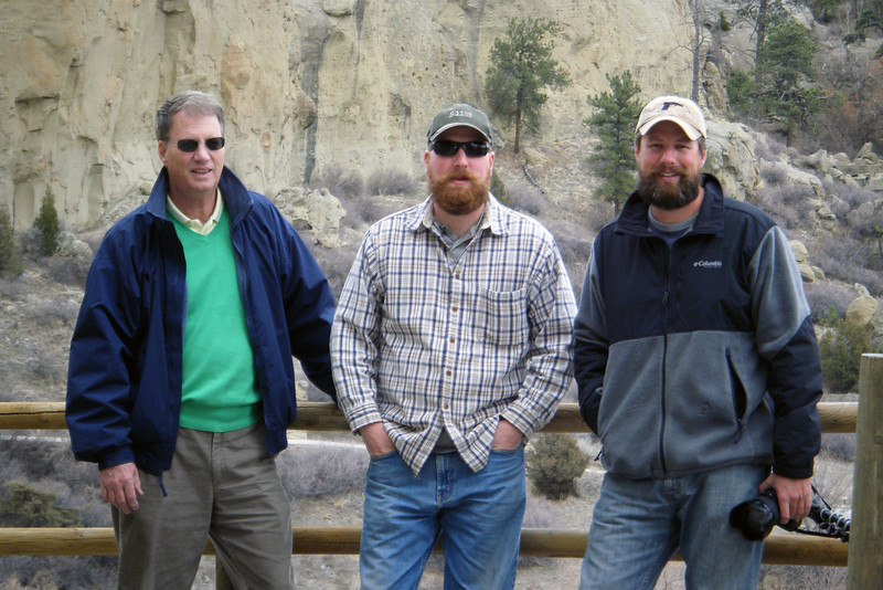 Dad, Tim and I at Pictograph Caves State Park, outside Billings, Montana, April 2013.