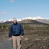 Dad in front of the lava flow at Craters of the Moon, Idaho, April 2013, taken with Kodak Portra 160 film.