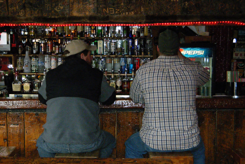 Tim and I having a local Montana brew at a bar in Red Lodge, Montana, April 2013.