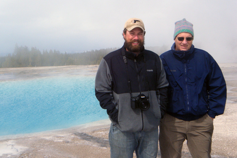 Dad and I at Yellowstone National Park, April 2013.