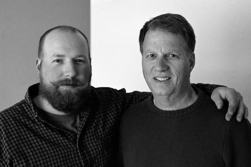 Dad and Tim in his new place in Billings, Montana, April 2013, taken with Kodak TMax film.