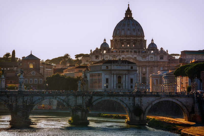 St. Peter's Basilica as seen from Tiber River