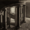 Bramante Double Staircase - Black & White