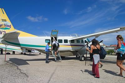 Boarding Maya Island Air.