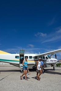 Arriving on Maya Island Air.