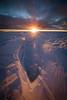 Sunrise over Greenland ice cap