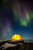 Aurora over camp, Greenland