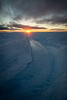 Sunset over Greenland icecap