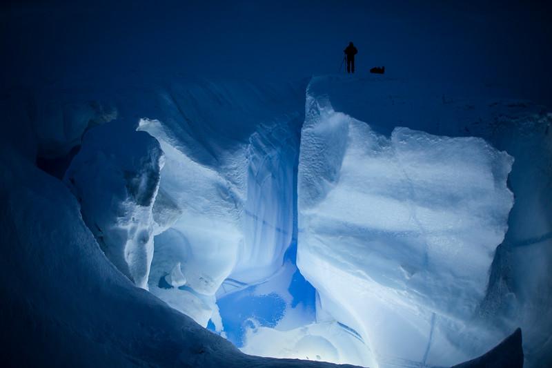 Ice crevasse, Greenland ice cap