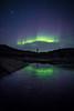 Person watching aurora, Greenland