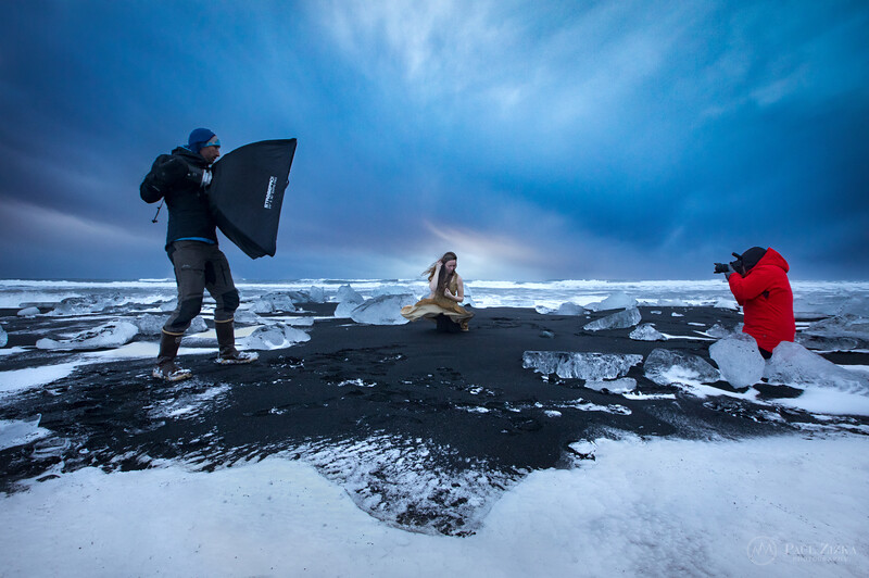 Behind the scenes shoot, Diamond Beach