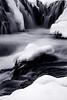 Bruarfoss Falls during Winter