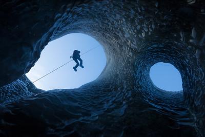 Climbing Glacier Ice Caves